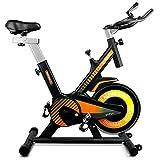 gridinlux. Trainer Alpine 6000. Bicicleta estática Ciclo Indoor. Volante de Inercia 10 kg, Nivel Avanzado, Sistema de Absorción de Impactos, Pantalla LCD, Fitness
