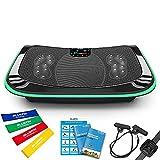 Bluefin Plataforma Vibratoria de Fitness con Triple Motor 4D | Masaje de Terapia Magnética I Altavoces Bluetooth 4.0 (Negro)