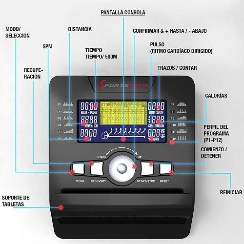 Sportstech RSX500 Máquina de Remo