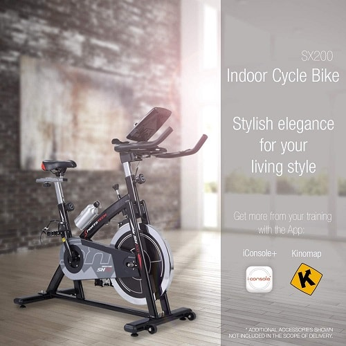 Sportstech SX200 Bicicleta de spinning profesional.