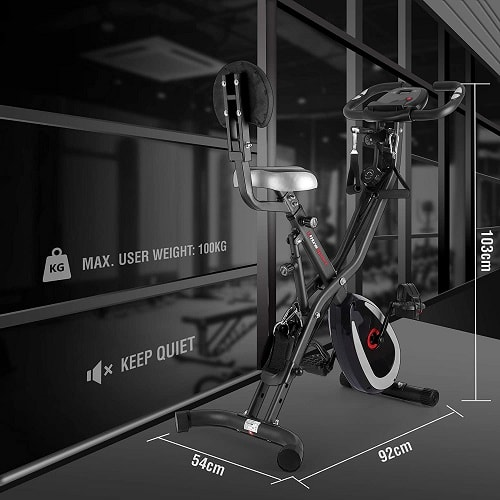 Ultrasport F-Bike 400BS, Respaldo, Cuerdas y APP